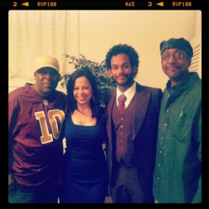 Tamara Blake with our three comedians - Darryl Rosemond, Bill Posley, and Marcellino Hill!