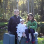 One of the photographs we were able to take with the beautiful vintage luggage.